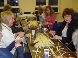 Mothers Union making Palm Crosses